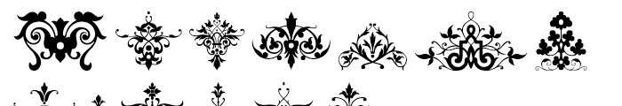Victorian Ornaments Font LOWERCASE