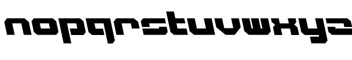Video Tech Closed AItalic Font LOWERCASE