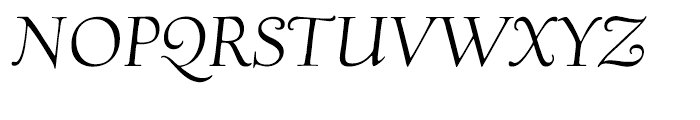 Village Italic Smallcaps Titling Font UPPERCASE