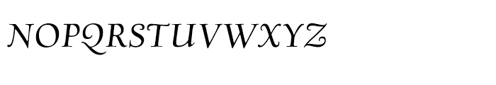 Village Italic Smallcaps Titling Font LOWERCASE