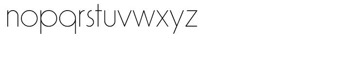 Virginia ExtraLight Font LOWERCASE