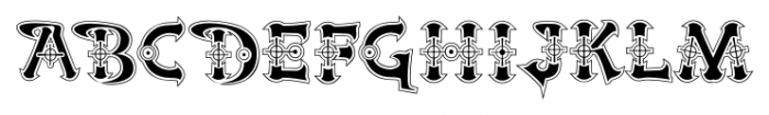 Victorian Cyborg Regular Font UPPERCASE