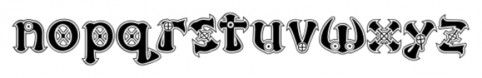 Victorian Cyborg Regular Font LOWERCASE
