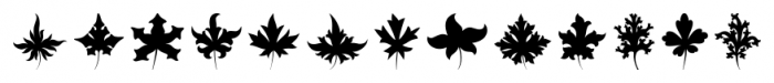 Victorian Ornaments Leaf Font LOWERCASE