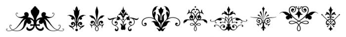Victorian Ornaments Regular Font OTHER CHARS