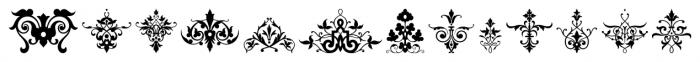Victorian Ornaments Regular Font LOWERCASE
