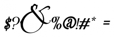 Victoriandeco Italic Font OTHER CHARS