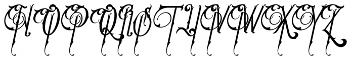 Victoriandeco Italic Font UPPERCASE