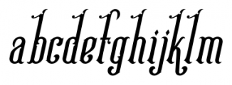 Victoriandeco Italic Font LOWERCASE