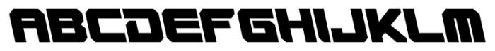 VideoTech Closed AItalic Regular Font UPPERCASE