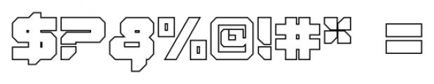 VideoTech Closed Outline Regular Font OTHER CHARS