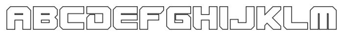 VideoTech Closed Outline Regular Font UPPERCASE