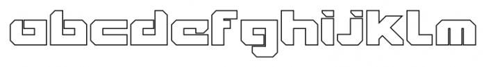 VideoTech Closed Outline Regular Font LOWERCASE