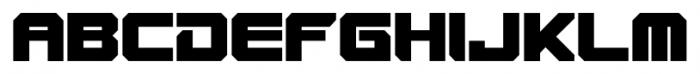 VideoTech Closed Plain Regular Font UPPERCASE
