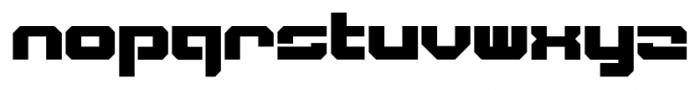 VideoTech Closed Plain Regular Font LOWERCASE
