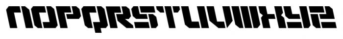 VideoTech Open AItalic Regular Font UPPERCASE