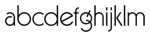 Virginia Light Font LOWERCASE