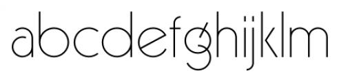 Virginia Neo Extra Light Font LOWERCASE