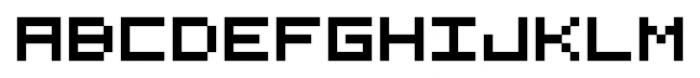 Visitor BRK Ten Pro Regular Font UPPERCASE