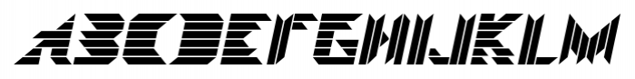 Visoko Italic Font UPPERCASE