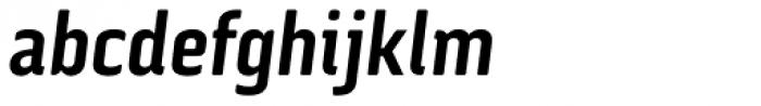 Via Sans Bold Italic Font LOWERCASE