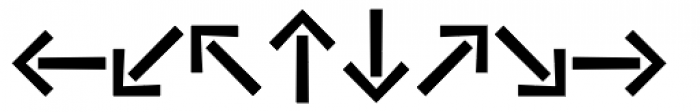 Vialog Signs Arrows Four Font LOWERCASE