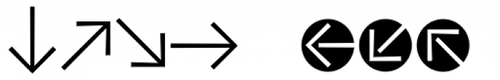 Vialog Signs Arrows One Font UPPERCASE