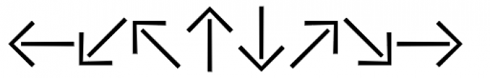 Vialog Signs Arrows One Font LOWERCASE