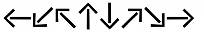 Vialog Signs Arrows Three Font LOWERCASE