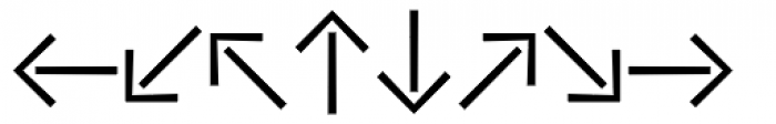 Vialog Signs Arrows Two Font LOWERCASE