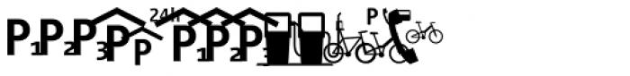 Vialog Signs Transport Three Font UPPERCASE
