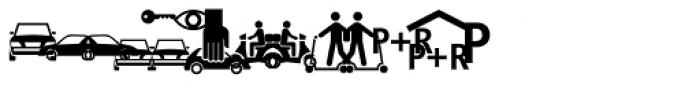 Vialog Signs Transport Three Font LOWERCASE