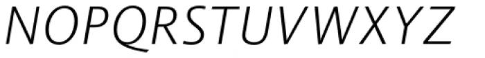 Vianova Sans Pro Light Italic Font UPPERCASE