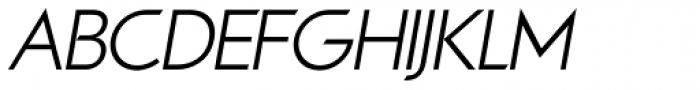 Viata Light Oblique Font UPPERCASE