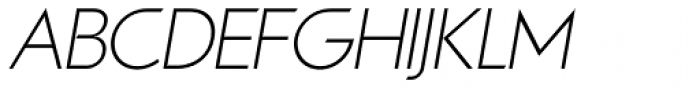Viata Thin Oblique Font UPPERCASE