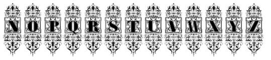 Victorian Exotical Capitals Font UPPERCASE