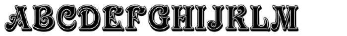 Victorian Inline Shaded Font UPPERCASE