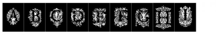 Victorian Ornamental Capitals Negative Font UPPERCASE
