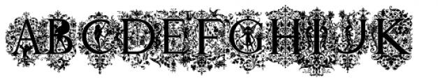 Victorian Ornamental Capitals Font LOWERCASE