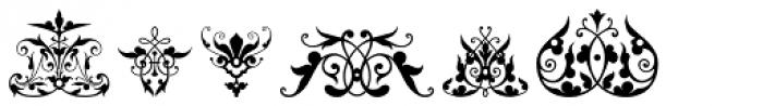Victorian Ornaments Font UPPERCASE