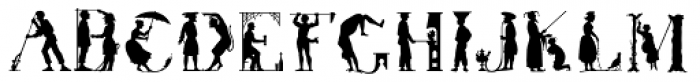 Victorian Silhouette Font LOWERCASE