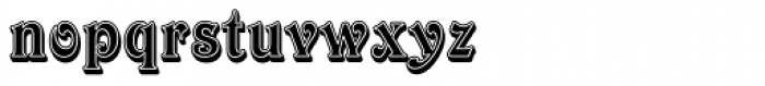 Victorian Std Inline Shaded Font LOWERCASE