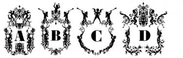 Victorian Ultra Paraphernalia Font UPPERCASE