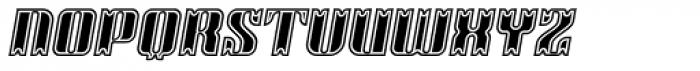 Victorina Black Inline Italic Font UPPERCASE