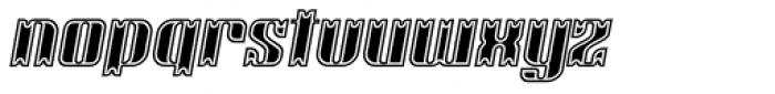 Victorina Black Inline Italic Font LOWERCASE