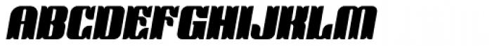 Victorina Black Italic Font UPPERCASE