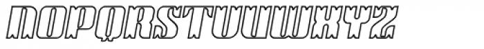 Victorina Black Outline Italic Font UPPERCASE