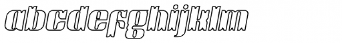 Victorina Black Outline Italic Font LOWERCASE