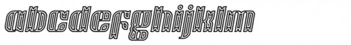 Victorina Circus Black Italic Font LOWERCASE