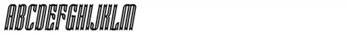 Victorina Condensed Inline Italic Font UPPERCASE